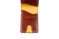 Flat Head Shell Cordovan Small Wallet - Dark Tan - Image 2