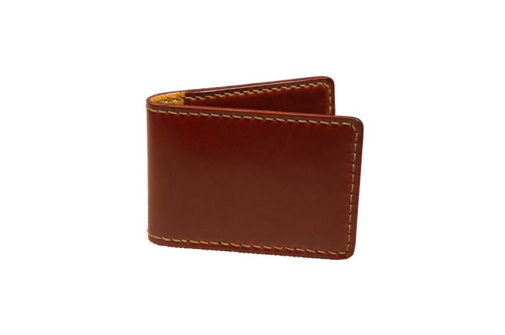 Flat Head Shell Cordovan Small Wallet - Dark Tan - Image 3