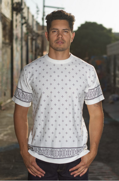 Sugar Cane Light Dragonfly T-Shirt - Off-White