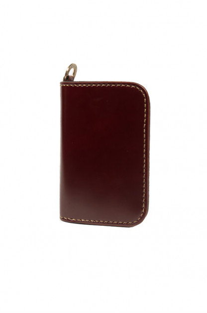 Iron Heart Cordovan Mid-Length Wallet - Ox-Blood