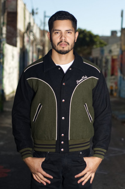 Human Made GFFT Chainstitch Embroidered Varsity Jacket
