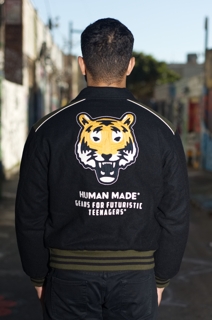 Human Made GFFT Chainstitch Embroidered Varsity Jacket - Image 1