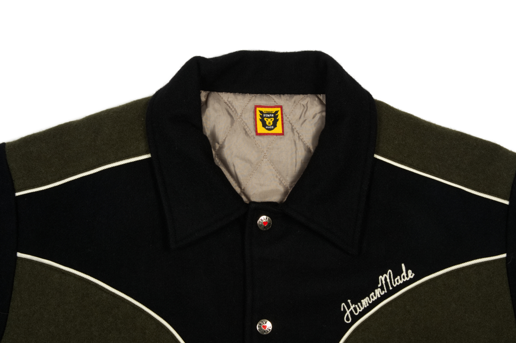 Human Made GFFT Chainstitch Embroidered Varsity Jacket - Image 3