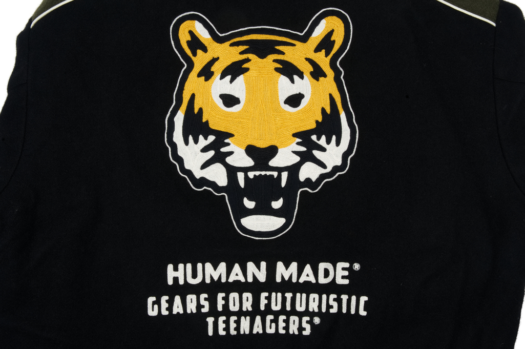 Human Made GFFT Chainstitch Embroidered Varsity Jacket - Image 9