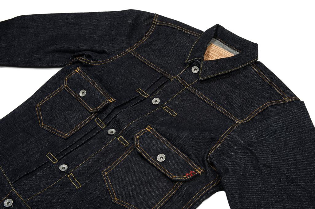 Iron Heart 18oz Raw Selvedge Type II Jacket - Image 4