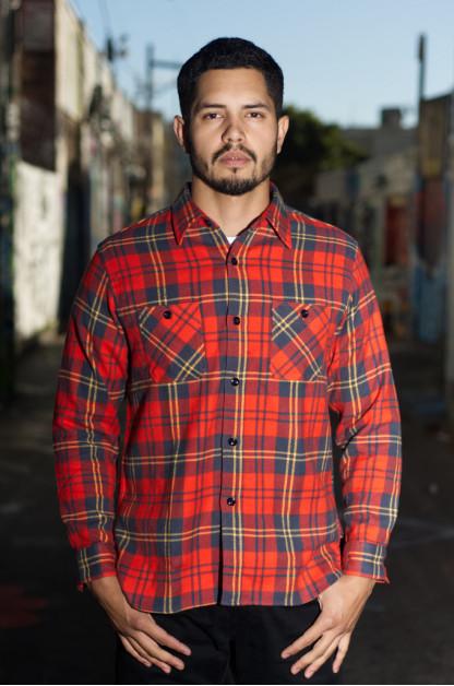 Sugar Cane Twill Check Winter Flannel - Red Check