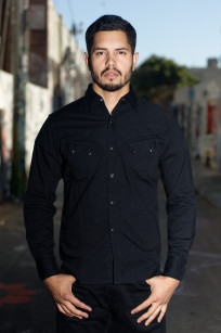 Stevenson Cody Snap Shirt - Black/Black Denim - Image 0