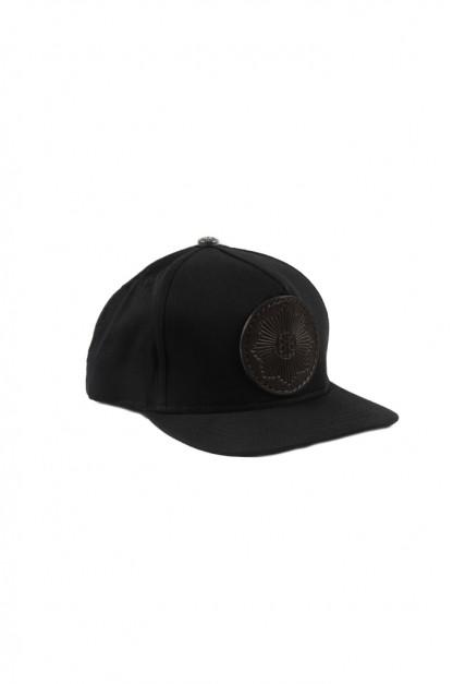 Good Art x Gregoire Adjustable Cotton & Leather Cap - Black