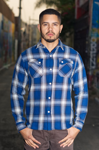 3sixteen 15 Year Indigo-Dyed Crosscut Flannel