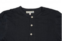 Merz B. Schwanen 2-Thread Heavyweight T-Shirt - Cotton/Hemp Navy Henley - Image 1