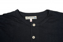 Merz B. Schwanen 2-Thread Heavyweight T-Shirt - Cotton/Hemp Navy Henley - Image 2