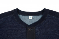 Pure Blue Japan Denimish Military Henley T-Shirt - Image 4