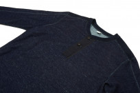Pure Blue Japan Denimish Military Henley T-Shirt - Image 5