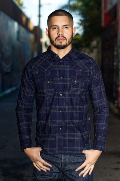 Pure Blue Japan Flannel Shirt - Indigo Check Snap