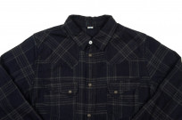 Pure Blue Japan Flannel Shirt - Indigo Check Snap - Image 3