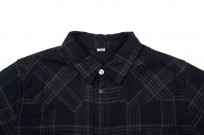 Pure Blue Japan Flannel Shirt - Indigo Check Snap - Image 4