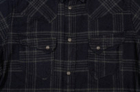 Pure Blue Japan Flannel Shirt - Indigo Check Snap - Image 5