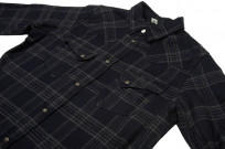 Pure Blue Japan Flannel Shirt - Indigo Check Snap - Image 6