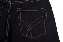 Strike Gold 5004 15.5oz Denim Jeans - Double Indigo Straight Tapered - Image 6