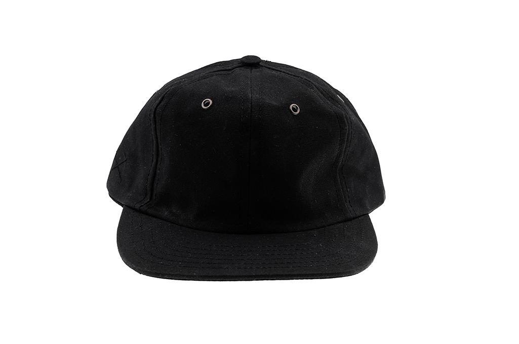 3sixteen Baseball Cap - Waxed Canvas Black - Image 2