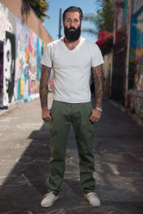 3sixteen Selvedge Chinos - Olive - Image 0