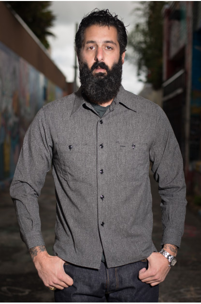 Buzz Rickson Workshirt - Mock Twist Black