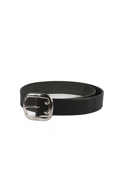 Studio D'Artisan Cowhide Leather Belt - Black