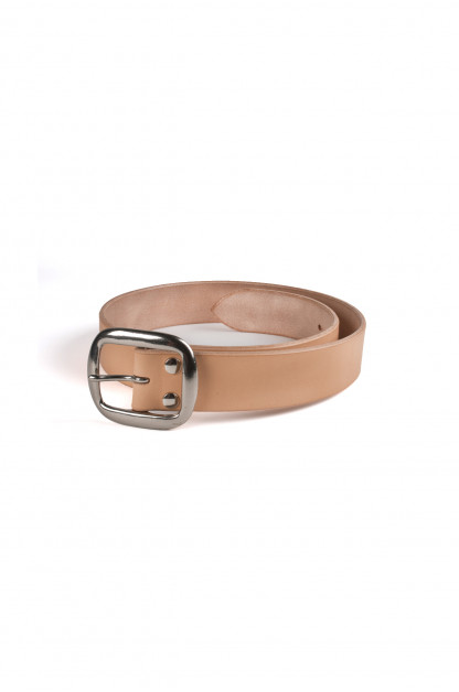 Studio D'Artisan Cowhide Leather Belt - Tan