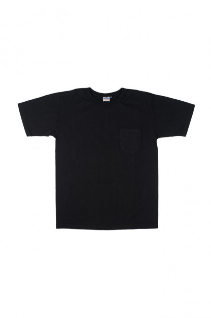 Studio D'Artisan Loopwheeled Pocket T-Shirt - Black