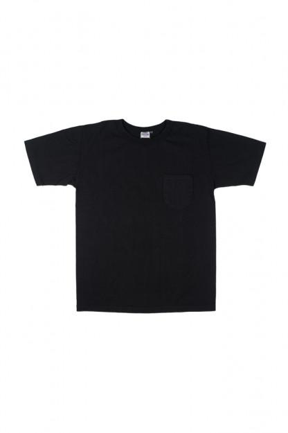 Studio D'Artisan Loopwheeled Pocket T-Shirt - Black