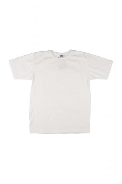 Studio D'Artisan Loopwheeled Pocket T-Shirt - White