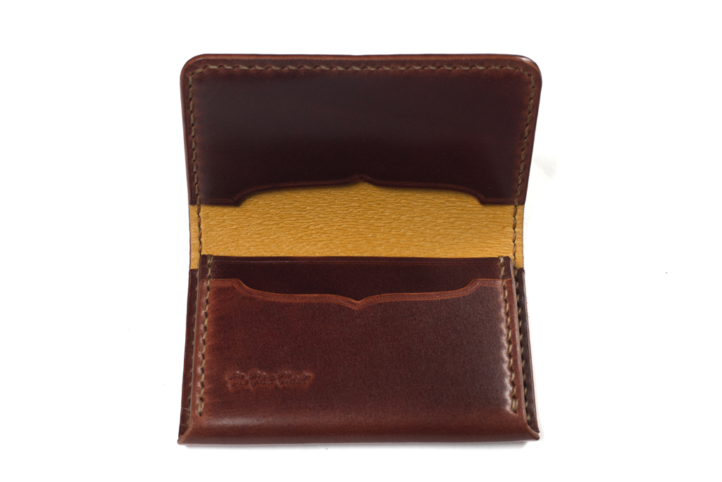 Flat Head Hand-Sewn Cordovan Wallet - Image 3