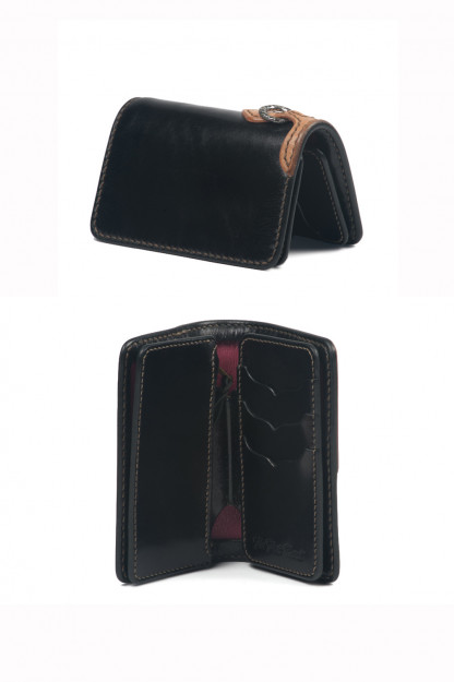 Flat Head Mid-Length Wallet - Black