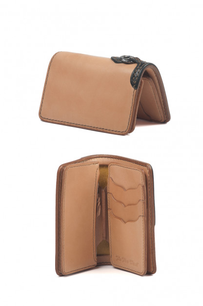 Flat Head Mid-Length Wallet - Tan