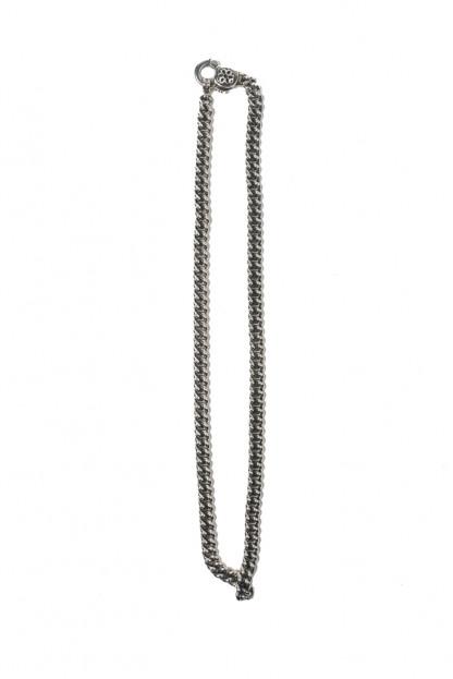 "Good Art #4 Curb Chain Necklace w/ Rosette Clip - 21"""