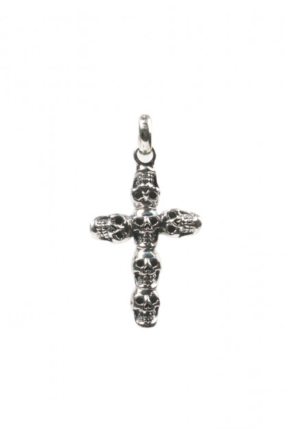Good Art Jack Skull #2 Sterling Silver Cross Pendant