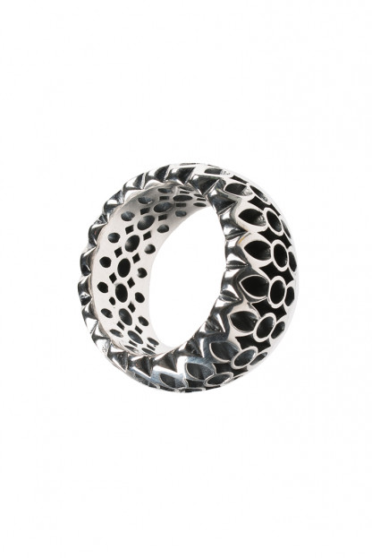 "Good Art ""Rocklock"" Sterling Ring"