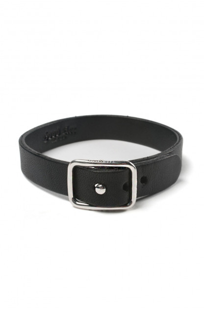 Good Art Leather Bracelet w/ Sterling Buckle - Black