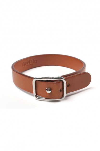 Good Art Leather Bracelet w/ Sterling Buckle - Tan