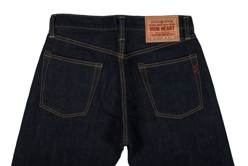 Iron Heart 633N 17oz Natural Indigo Jeans - Straight Tapered - Image 4
