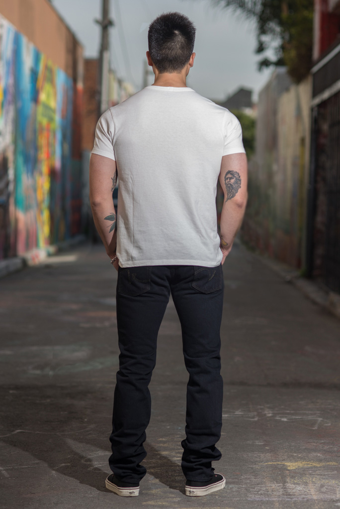 Iron Heart 633s-OD Overdyed 18oz Denim Jeans - Straight Tapered - Image 2