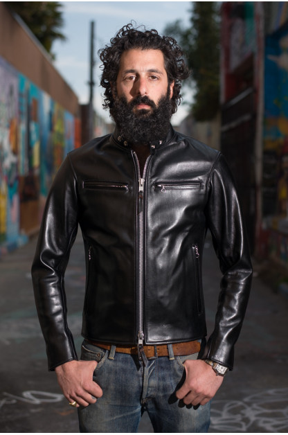 Iron Heart Horsehide Leather Jacket - Black Battle Edition