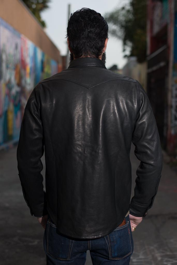 Iron Heart Deerskin Snap Buttoned Shirt - Black - Image 10