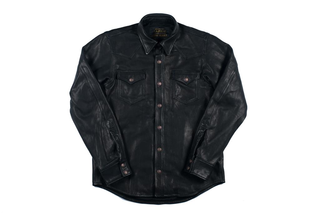 Iron Heart Deerskin Snap Buttoned Shirt - Black - Image 9
