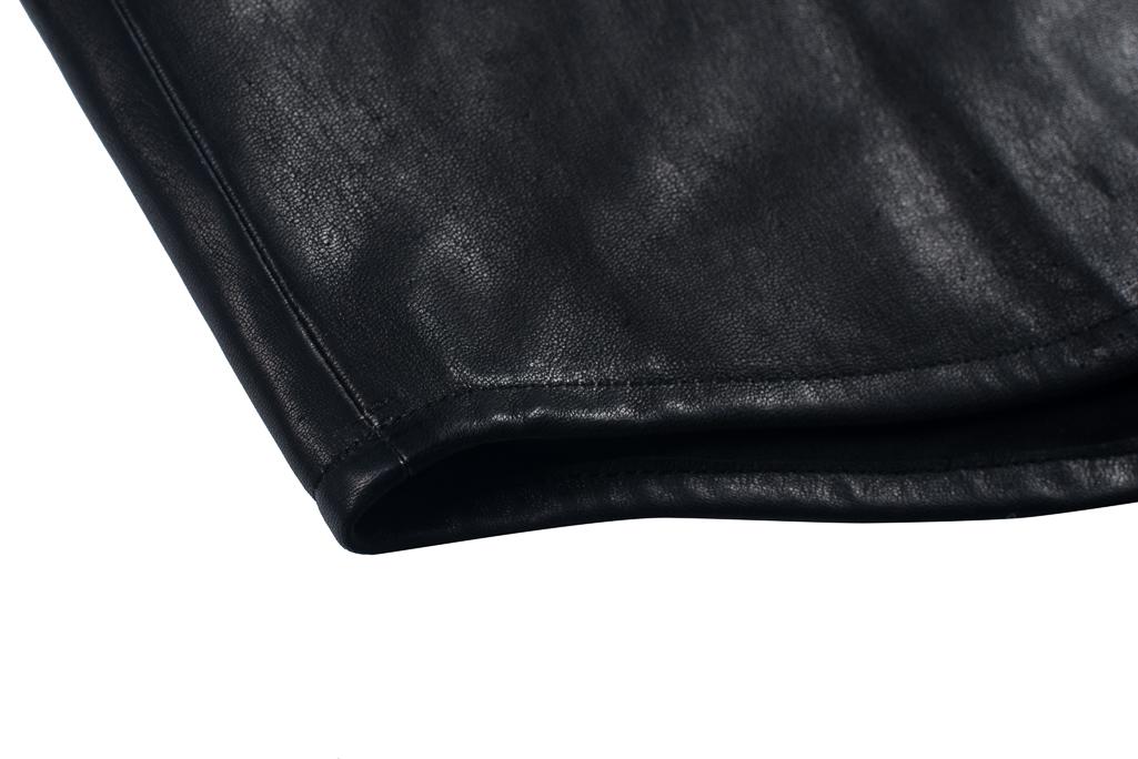 Iron Heart Deerskin Snap Buttoned Shirt - Black - Image 5