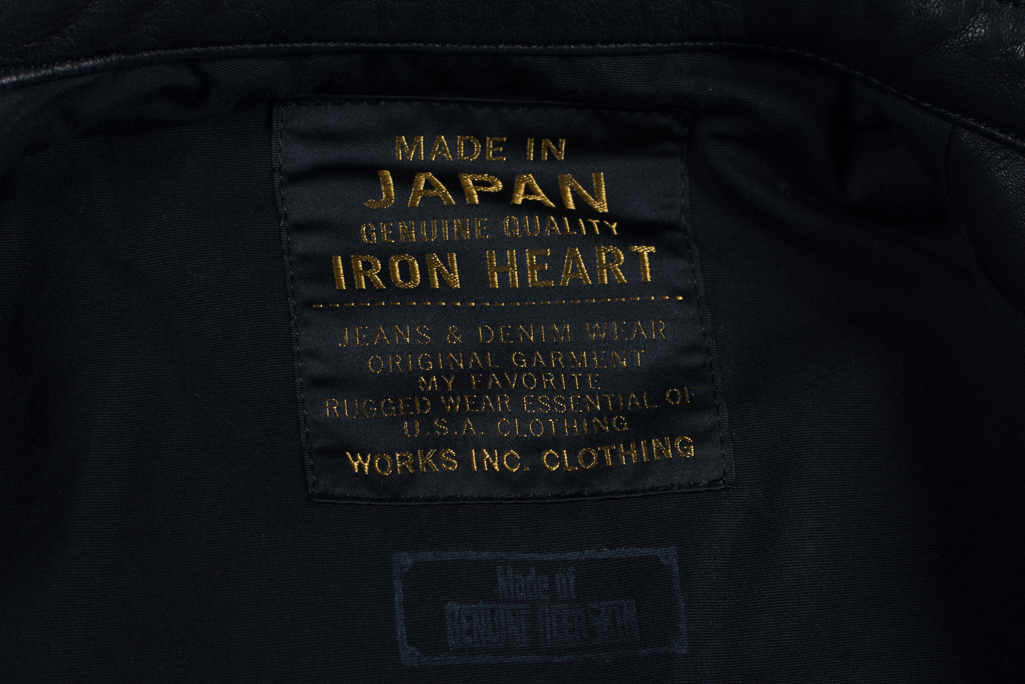 Iron Heart Deerskin Snap Buttoned Shirt - Black - Image 2