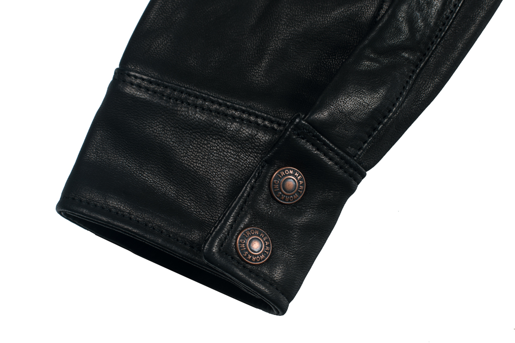 Iron Heart Deerskin Snap Buttoned Shirt - Black - Image 1