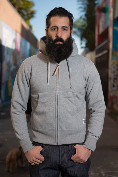 Ultra-Heavy Loopwheeled Hooded Sweater - Gray
