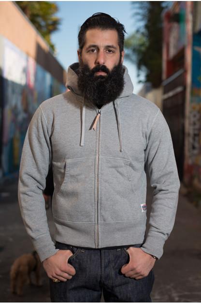 Iron Heart Ultra-Heavy Loopwheeled Hooded Sweater - Gray