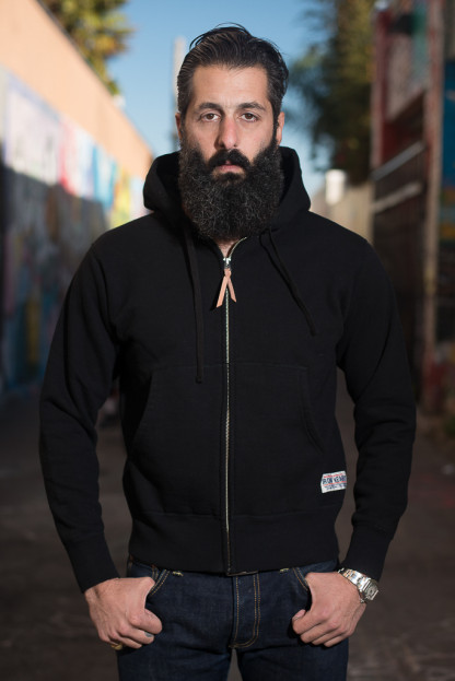 Ultra-Heavy Loopwheeled Hooded Sweater - Black